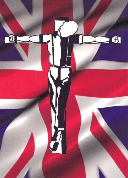 Crucified Skin - Union Jack, Aufkleber