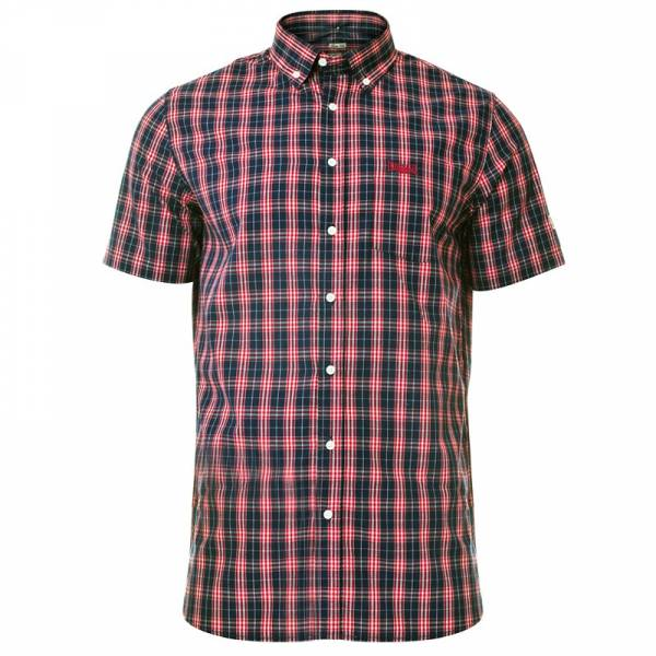 Lonsdale - Brixworth rot, Button Down Hemd, Slim Fit