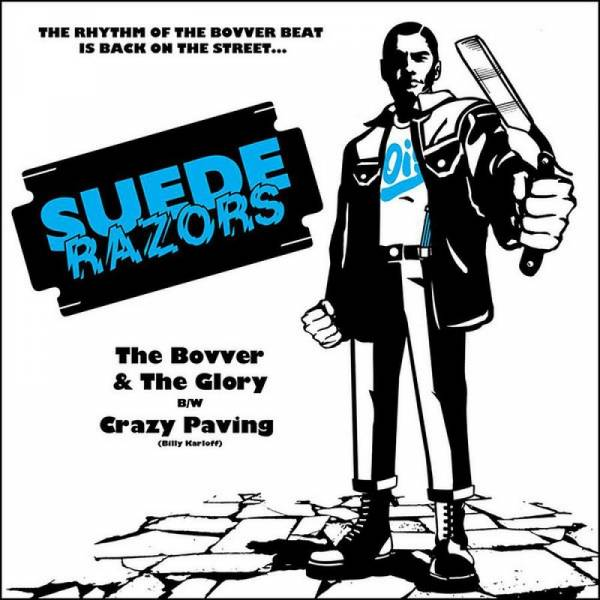 "Suede Razors - The bovver and the glory, 7"" lim. 200 (US-Version)"