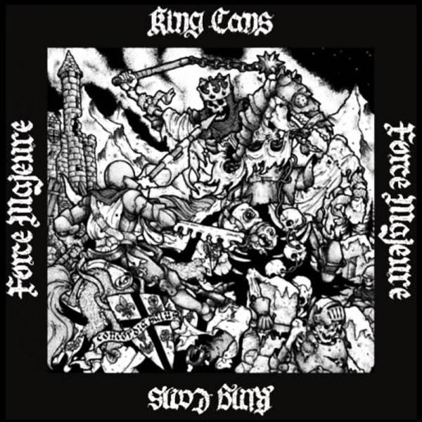 King Cans / Force Majeure - Split, LP lim. 250, schwarz US Version