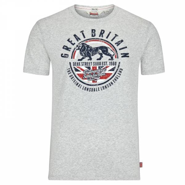 Lonsdale - Shoreham, T-Shirt Slim-Fit grau melliert