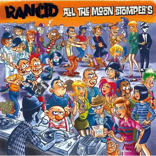 Rancid - All the Moon Stomper's, DoLP rot/ weiß splatter