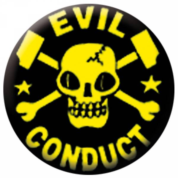 Evil Conduct - Skull, Button B046