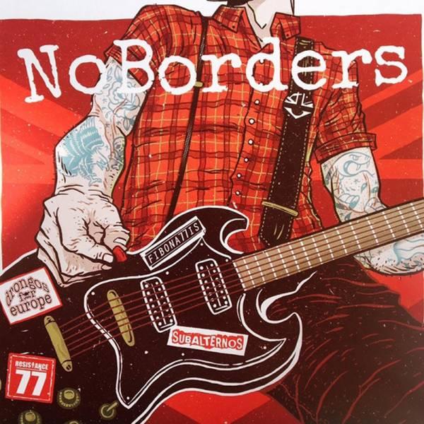 "V/A - No Borders, 7"" schwarz lim. 300 nummeriert Resistance 77 / Fibonattis / Drongos o.E. / Subalt"