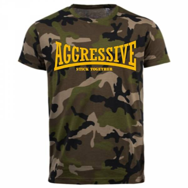 Aggressive - Stick together, T-Shirt Camo