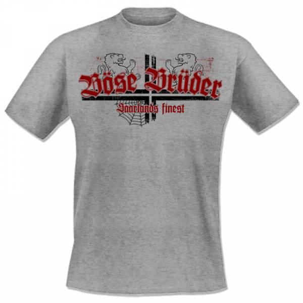 Böse Brüder - Saarlands finest, T-Shirt grau