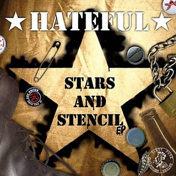 Hateful - Stars and Stencils, 7'' lim. 500 schwarz/braun half