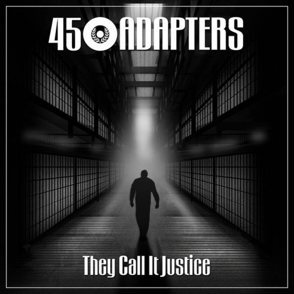 """45 Adapters - They call it justice, 7"""" lim. 500 milky clear/white/green splattered"""