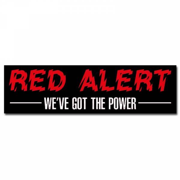 Red Alert - We've got the power, Aufkleber