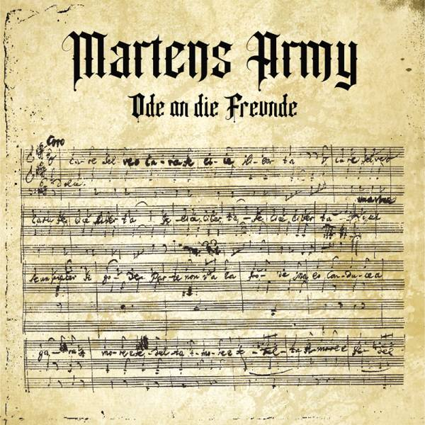 """Martens Army - Ode an die Freunde, 12"""" schwarz, lim. 250, Single-sided + UV Druck, VORBESTELLUNG"""