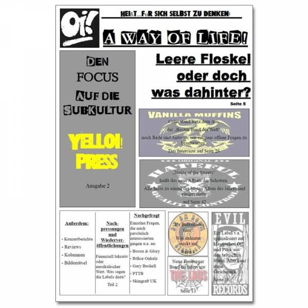 YellOi! Press No.2, Fanzine A4 hoch