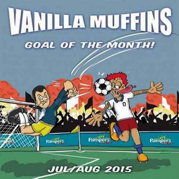 """Vanilla Muffins - Goal of the month 07/08 2015, 7"""" lim. 500 verschiedene Farben"""