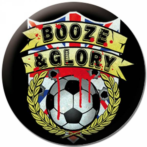 Booze & Glory - Logo, Button B134