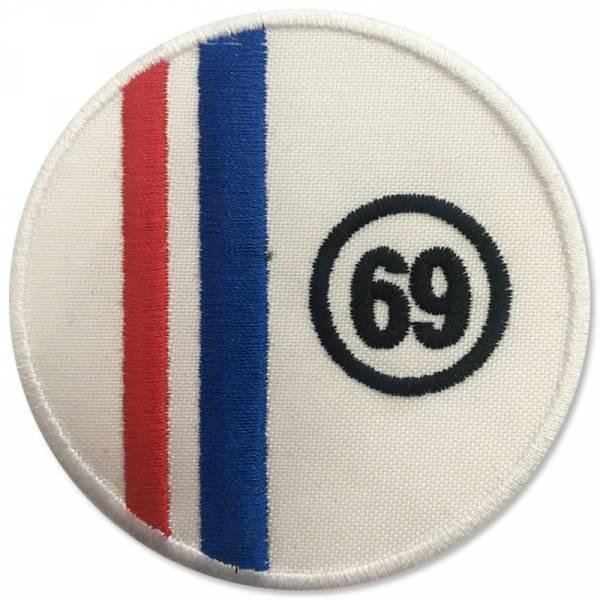 69 - Stripes, Aufnäher