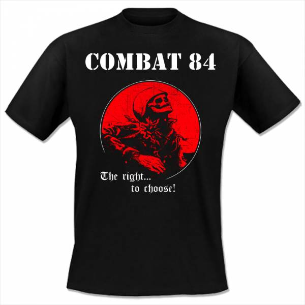 Combat 84 - The right to choose, T-Shirt schwarz