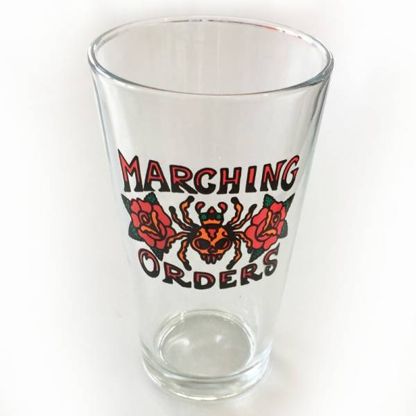 Marching Orders - Logo, Pint Glas