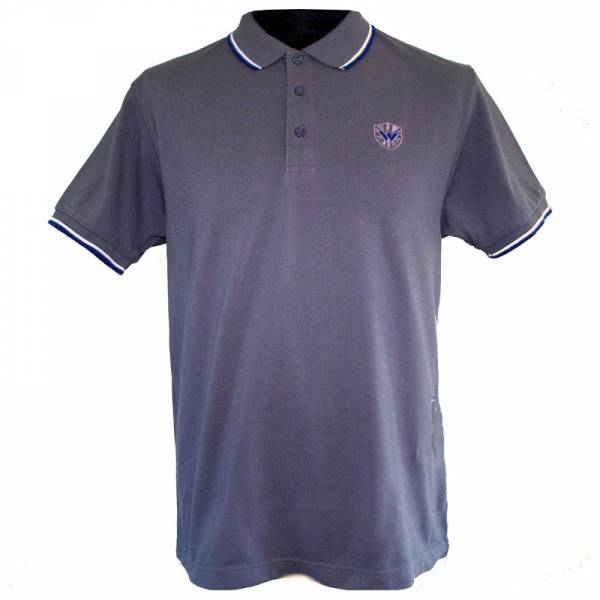 Warrior - Classic, Poloshirt anthrazit/weiss/blau