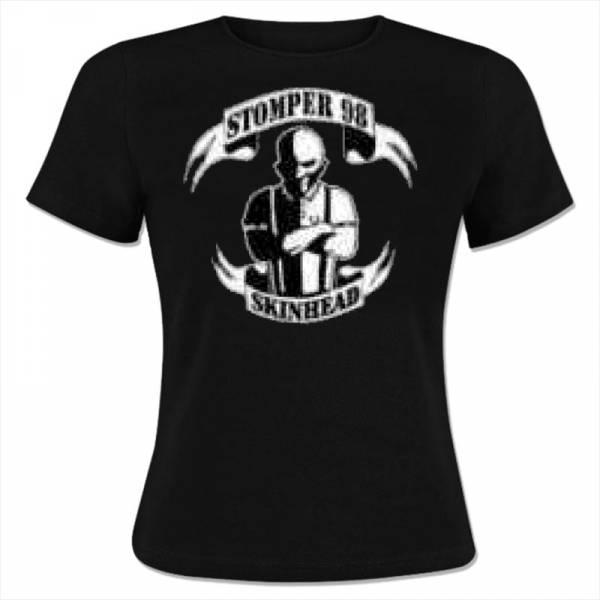 Stomper 98 - Skinhead, Girlie-Shirt schwarz