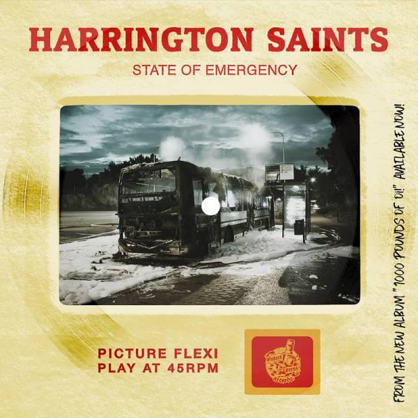 Harrington Saints - State of emergency, 7'' PICTURE Flexi