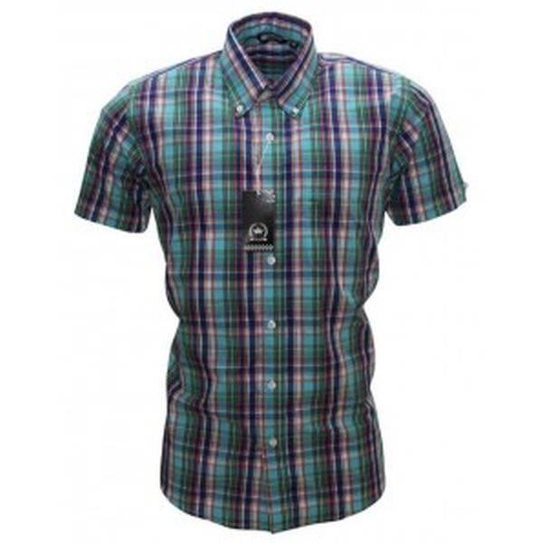 RELCO Clothing - Button Down Kurzärmel-Shirt CK33, verschiedene Größen