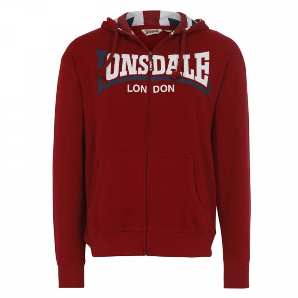 "Lonsdale - Logo, Kapuzen-Zippjacke Regular-Fit ""Watlington"""