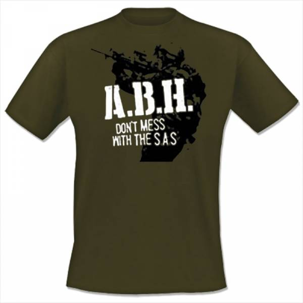 A.B.H. - Don't mess with the S.A.S., T-Shirt oliv