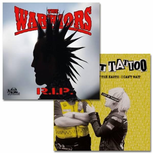 """Warriors, the / Midnight Tattoo - Split, 7"""" lim. 300 splatter"""